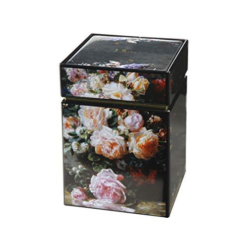 Goebel 67065111 Teedose, Motiv Stillleben mit Rosen von Jean Baptiste Robie