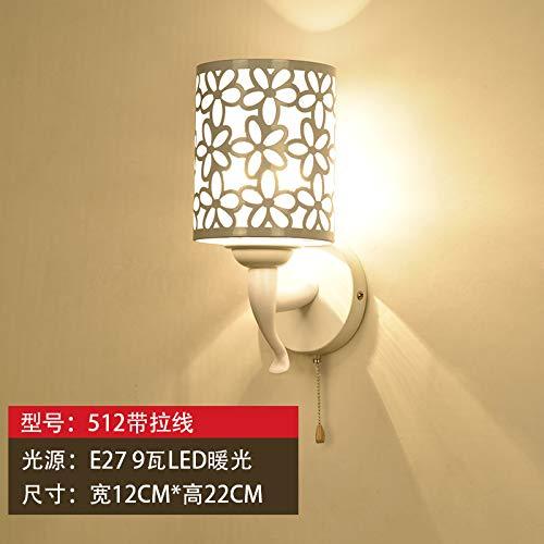 MJSM Light Wandlamp, led-wandlamp, met schakelaar, kabel, voor slaapkamer, modern, minimalistisch, creatief voor de woonkamer, trap, halverlichting