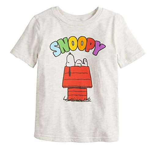 Little Boys' 4-12 Snoopy Tee, Oatmeal Heather