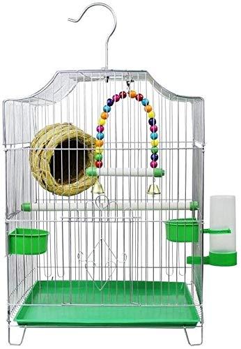 Jaula de pájaros de Parrot de vuelo grande para De CAGE DE VUELO Suministros para mascotas La jaula de ave económica de estilo casero viene con 2 tazones de alimentación y 1 fuente de beber Hundido