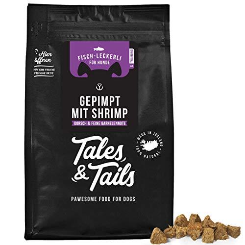 Tales & Tails - Gepimpt mit Shrimp - Hundeleckerli getreidefrei - 100{5dc9cc0509eb5d69605965e0767eaaafbe9a5d5c0daf4ce7eb6bdcfbc7bbced5} Fisch, 1x70g Tüte