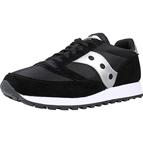 Saucony unisex adult Jazz 81 Sneaker, Black/Silver, 8 Women Men US