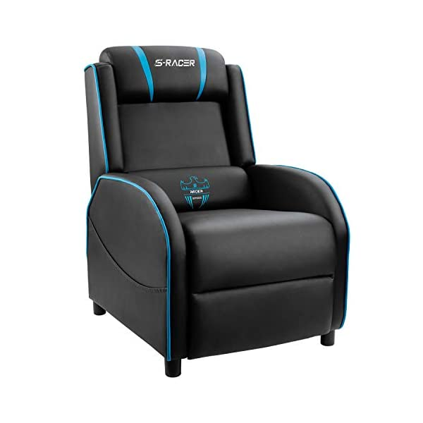 Homall Gaming Recliner Chair Single Living Room Sofa Recliner PU Leather Recliner...
