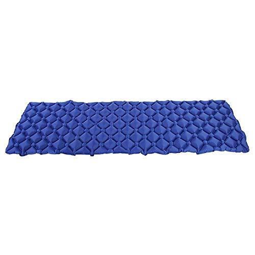 Fyearfly Colchoneta para Acampar Colchón de Aire Plegable Inflable Colchoneta para Dormir Cama para Exteriores Colchoneta para Acampar al Aire Libre para Acampar Senderismo(Azul)