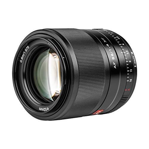 Viltrox AF 56/1.4 XF 56 mm F1.4 Autofokus-Porträtobjektiv mit großer Blende APS-C-Format Unterstützung Eye-AF Leichter Ersatz für Fujifilm X-Mount-Kamera X-Pro1 X-Pro2 X-Pro3 X-T3 X-T4 X-T30 X-T20