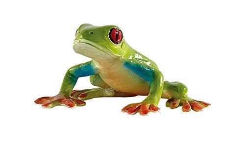 Bullyland 68516 - Figura de Juego, Rana arborícola de Ojos Rojos, Aprox. 3,2 cm de Altura, Figura Pintada a Mano, sin PVC, para Que los niños jueguen con la imaginación