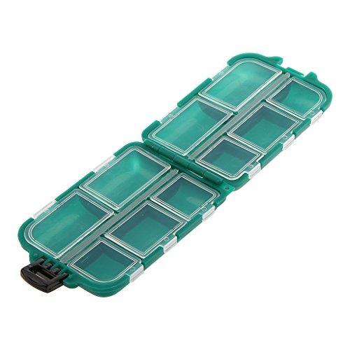 Sharplace Aparejos Duraderos Señuelos Cebos Anzuelos Caja Almacenamiento Accesorios de Herramientas de Pesca