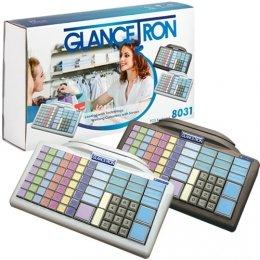 Tastatur, programmierbar, 105 Tasten, Glancetron Keyboard 8031, Numerisch, RS232, PS/2