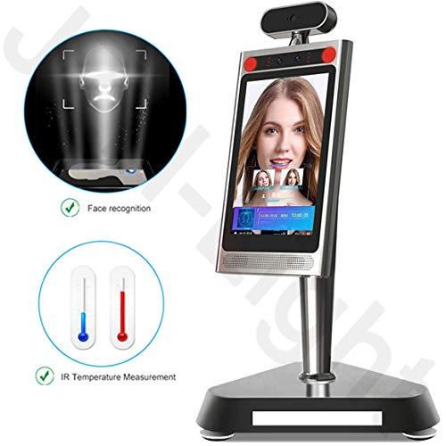 GODLV Gesichtserkennung All-in-One Körpertemperatur-Messgerät mit dynamischer Fernglaserkennung Infrarot-Tablet-Kamera für Ein- und Ausgang