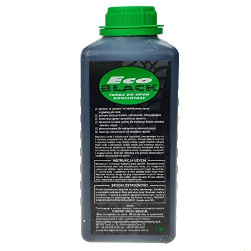 Eco-Black Reifenfarbe Autoreifenlack 1L Reifen-Lack Farbe Schwarz PKW LKW