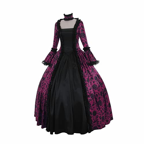ConBeauty Vestido renacentista de Talla Grande para Mujer, Disfraz Medieval, Vestido Victoriano gótico, Vestido de Baile rococó, Vestidos de Reina, Vestido Retro de Cosplay