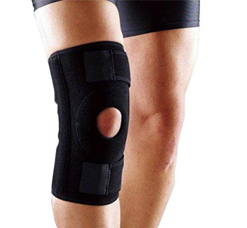 YSMART Rodillera- Rodillera de Meniscos Ayuda en Lesiones de Ligamentos ACL/LCP/LCL/LCM, Artritis, Rotura del Menisco y Más Senderismo, Correr, Baloncesto y Ciclismo - Rodillera Rotula Negro