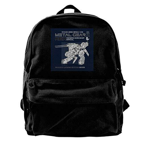 Schulrucksack Metal Gear Solid Rex Besitzer Werkstatthandbuch Reise Schule Schule Langlebig Anime College Schultasche Student DIY Tragbare Druck Rucksack Erwachsenen Leinwand Ruck