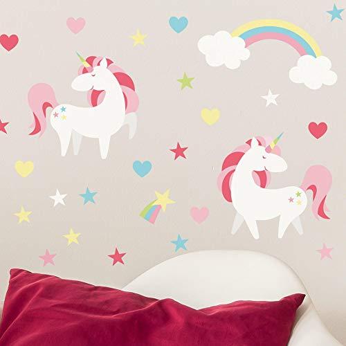Adesivo de Parede Unicornio Mágico Infantil para Quarto