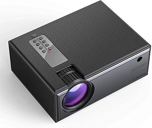 TIANYOU Proyector Lcd Proyector 2800 Lúmenes Teléfono Mismo Pantalla 1080P Entrada Audio Audio Wireless Smart Home Theatre Proyector para Películas de Juegos Enfoque automático/Ne