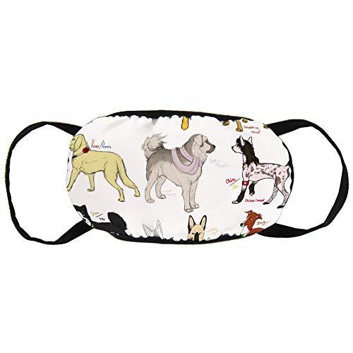 Promini Sicherheitsmasken Unisex Mundmaske Hund Hetalia Nickel Gurke Baumwolle Anti-Staub Mundmaske Wiederverwendbar Outdoor Schutzmaske für Erwachsene und Jugendliche