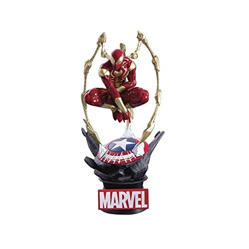 Beast Kingdom- Marvel Diorama Iron Spider Man, Multicolor (BKDDS-015)