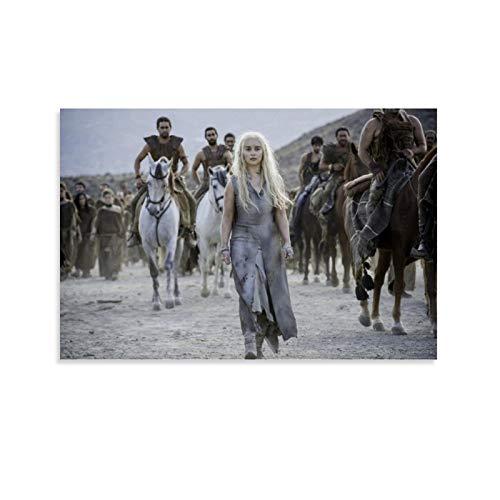 Póster de Dragon Vines Juego de Tronos Temporada 5 Mejor Serie de TV Pintura Lienzo Decoración de Oficina 40 x 60 cm