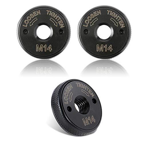3 Stücke Schnellspannmutter, Dyna-Living [Aktualisierte Version] Schnellspannmutter M14 für alle Winkelschleifer von AEG/Black & Decker/Dewalt/Flex/Hitachi/Metabo/Makita, Spannmutter M14