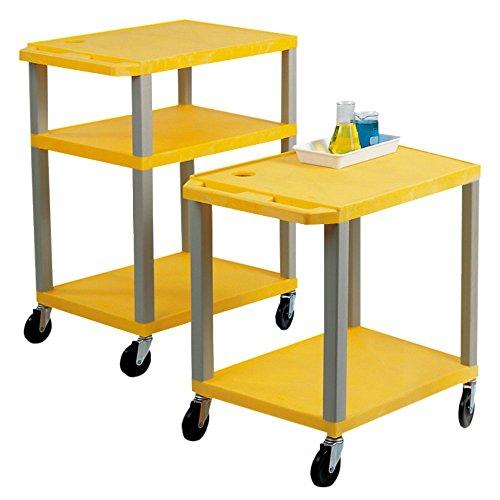 Neolab 2 2167 - Carro de 3 estantes (polietileno de alta densidad, 106 cm), color amarillo