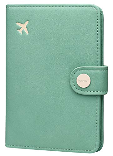 Zoppen Passport Cover Rfid Blocking Travel Passport Wallet Slim Id Card Case (#35 Aqua Green)