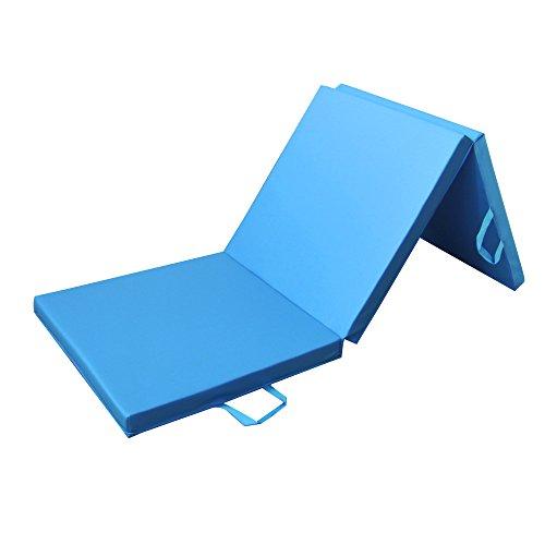 PRISP Tapis de Sol 180cm pour Fitness et Exercices, Matelas de Gym Épais et Pliable pour la Maison; Longueur: 180 cm * Largeur: 60cm * Épaisseur: 5 cm