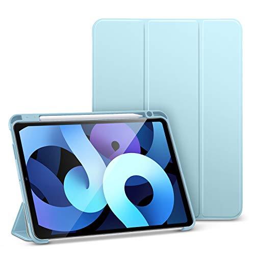 ESR Folio Hülle Kompatibel mit iPad Air 10.9 2020(4.Generation),Weiche Flexible Hülle mit Stifthalter,Trifold Ständer, Himmelblau.