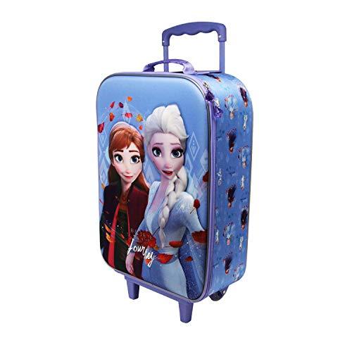 Karactermania Frozen 2 Journey - Maleta Trolley Soft 3D, Multicolor