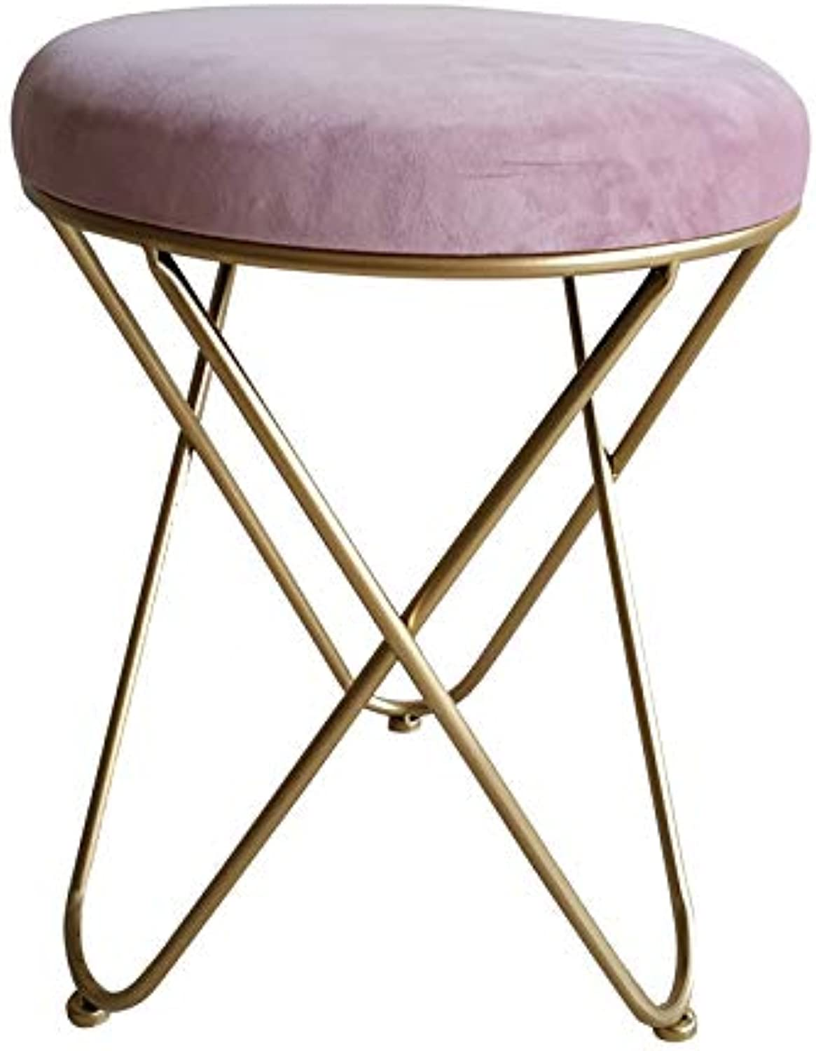 Nordic Simple Dressing Table Stool, Fashion Makeup Stool Bar Stool shoes Stool Stool Dressing Chair Home Creative Small Stool (color   D)