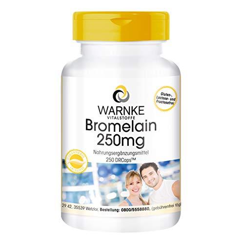 Bromelain 250mg - hochdosiert - 250 Kapseln - vegan - Ananasenzym