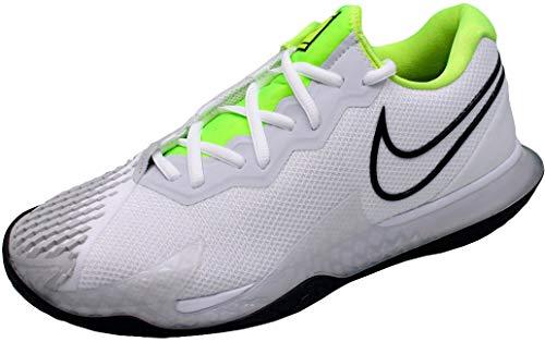 Nike Nikecourt Air Zoom Vapor Cage 4, Scarpa da Tennis Uomo, Bianco/Voltio/Platino Puro/Nero, 40 EU