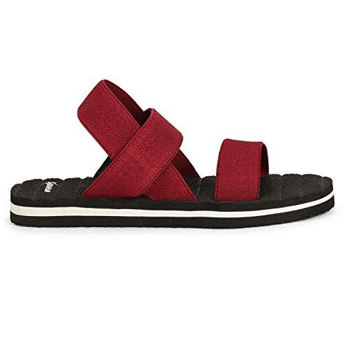 Kraasa Men's Cherry Red Fashion Sandal - 8 UK