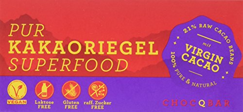 ChoQlate Superfood Kakaoriegel Pur, 1er Pack (1 x 150 g)