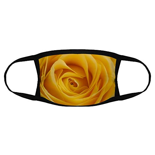 Mouth Mask Washable Reusable Cloth Masks, Preview Wallpaper Rose Yellow Bud Petals Macro Anti Dust Face Mouth Mask,Black Cotton Face Mask for Cycling Camping Travel