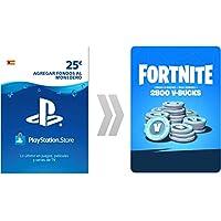 PSN Credito para Fortnite  2800 V-Bucks | Código de descarga PS4 - Cuenta española