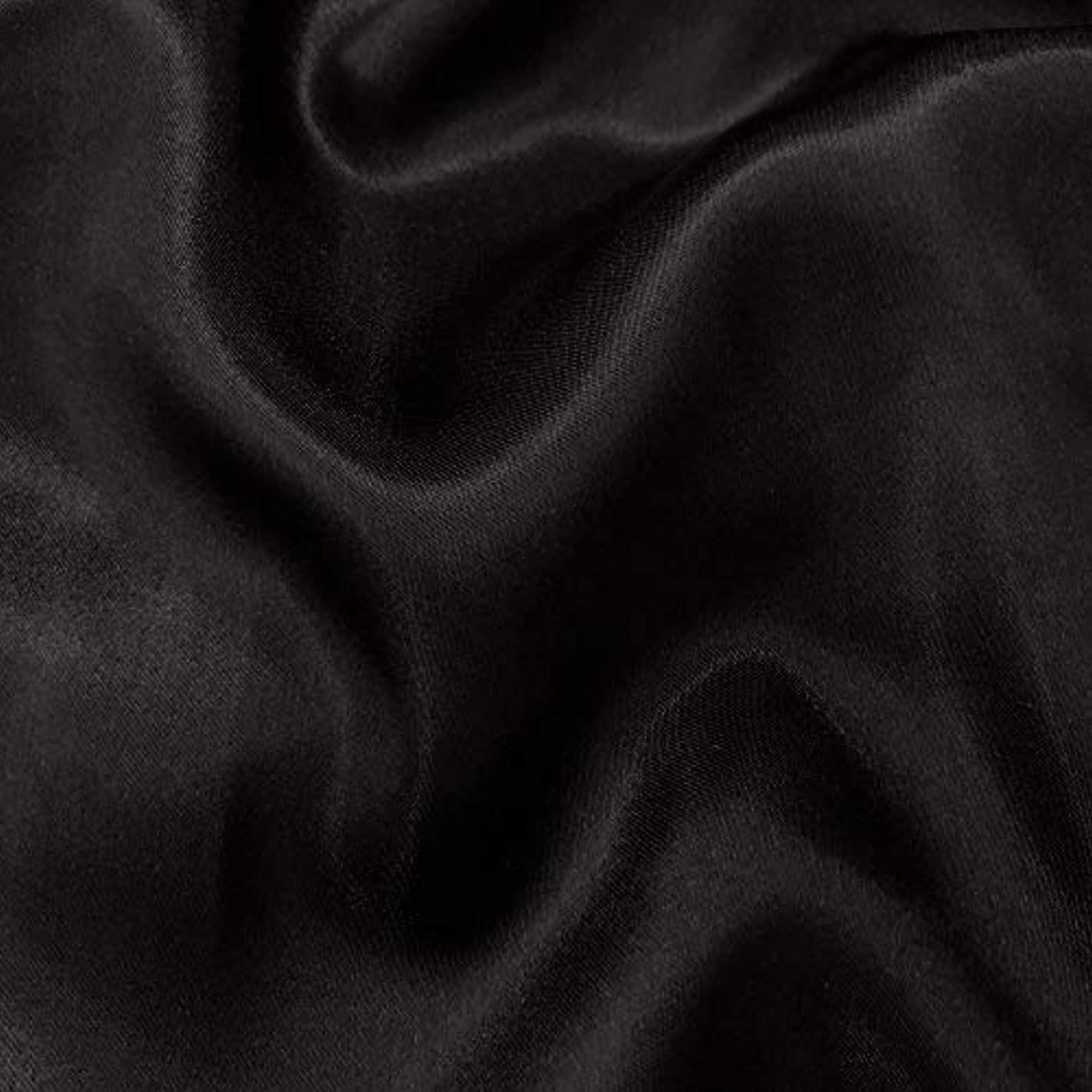 """mds Pack of 5 Yard Charmeuse Bridal Solid Satin Fabric for Wedding Dress Fashion Crafts Costumes Decorations Silky Satin 44""""- Black"""