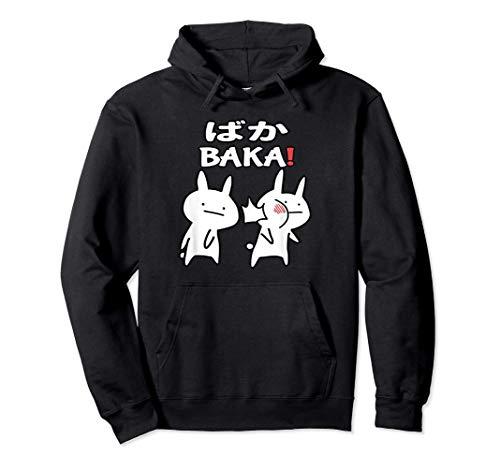 Lustiges Japan Baka Rabbit Ohrfeigen Anime und Manga Pullover Hoodie