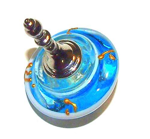Collecting Trends Murano Glass Handmade Dreidel Sevivon Hanukkah Judaica Italy Venice Aqua