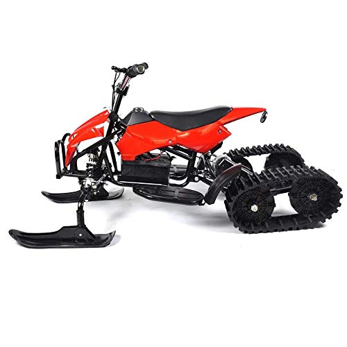Sunzy Snowmobiling, Snowmobile Crawler Type 24V12A Lithium Battery can Carry 155LB / Suitable for Children and Adults Over 6 Years Old,Red