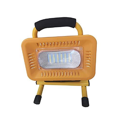ZED- 50 W LED Work Light, oplaadbaar, waterdicht, afneembare werklamp met houder voor buiten Daylight White LED Floodlight
