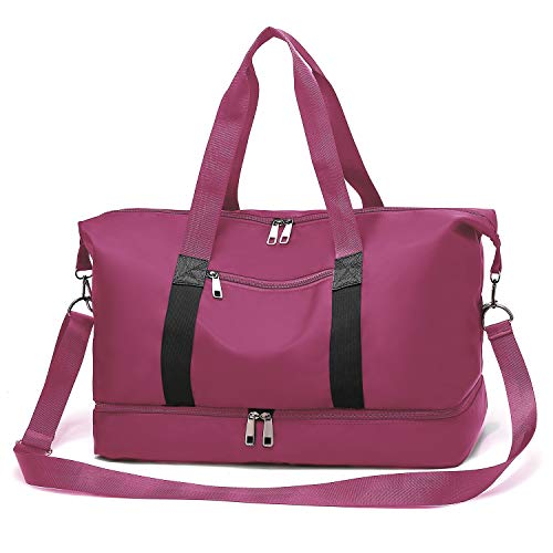 Gym bag Gym Bag, Sports Duffel Bag with Shoes Compartment for Men and Women (purple)