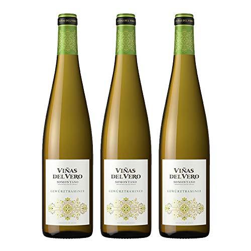 Vino blanco Gewürztraminer Viñas del Vero de 75 cl - D.O. Somontano - Bodegas Gonzalez Byass (Pack de 3 botellas)