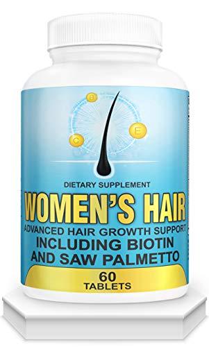 Hair Growth Vitamins for Women-DHT Blocker, Anti Hair Loss,Hair Growth Supplement for Perfect Hair.Hair Growth Pills for Thinning Hair.Get Healthy,Glow,Longer,Thick Hair.with Biotin,Saw Palmetto.