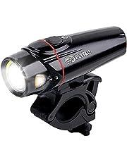 自転車ライト 最新版BLITZU ヘッドライト サイクルライト 自転車用LEDライト 2200mah USB充電式 4モード 強/弱/点滅/明暗センサー 交通事故防止 設置簡単 脱落しにくい IPX5防水 防災対策 ハイキング等 日本語取扱説明書