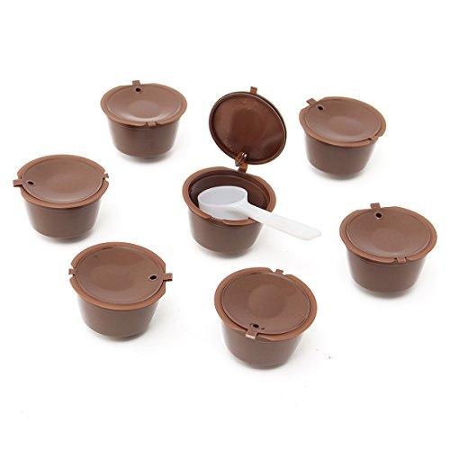 KING DO WAY 7Pcs/Satz Kapsel Kaffeefilter mehrweg kaffee kapseln brauer nach cup filter Kaffee wiederverwendbar Filter