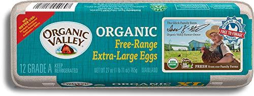 Organic Valley, Organic Free-Range Extra Large Brown Eggs - 1 Dozen (12 ct)