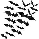 156 Pezzi Adesivi Pipistrelli 3D Decalcomanie di Halloween da Muro in Plastica Spaventosa Adesivi Murali Pipistrello 3D con 4 Formati Decorazioni Tematiche Realistiche di Halloween dei Pipistrelli
