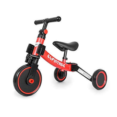 besrey Tricicli 5 in 1 Triciclo per Bambini / Triciclo Senza Pedali/ Bicicletta Senza Pedali ,Rosso,...