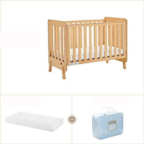 Liu 3-in-1 Convertible Crib,Fixed Side Crib, Solid Pine and Wood Product Construction, Converts to Toddler Bed Day Bed or Full Bed