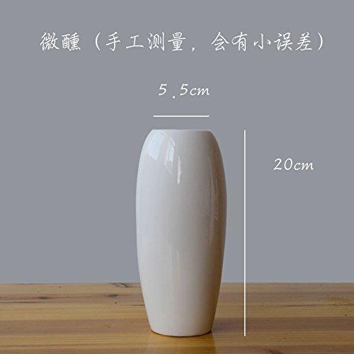 ZHFC-minimalisme moderne céramique blancs fleurs salon ameublement de maison moderne de minimalisme culture créative fleur,pompette (haut de 20 5.5cm)